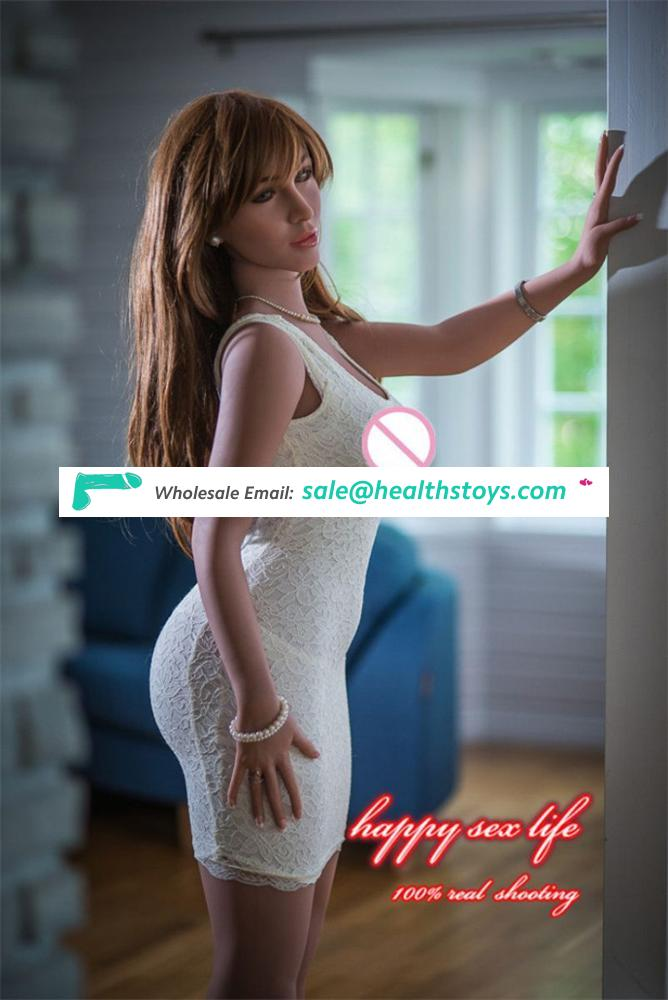 2018 New European American body smile face 163cm fat ass big butts full silicone sex doll for man