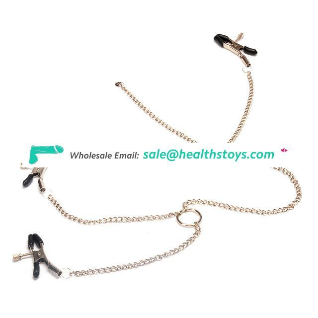 4 head Chain Nipple Clamps Clit Clips Adult Game Erotic Toys For Couple Game