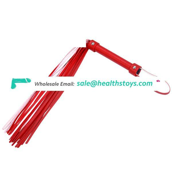 Brand Leather Riding Crop Whip Aids Spanking Bondage Paddle Slave Toy For Couple Adult Games
