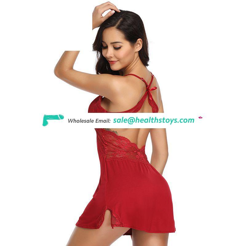 Breathable plus size sexy one piece pajamas for women