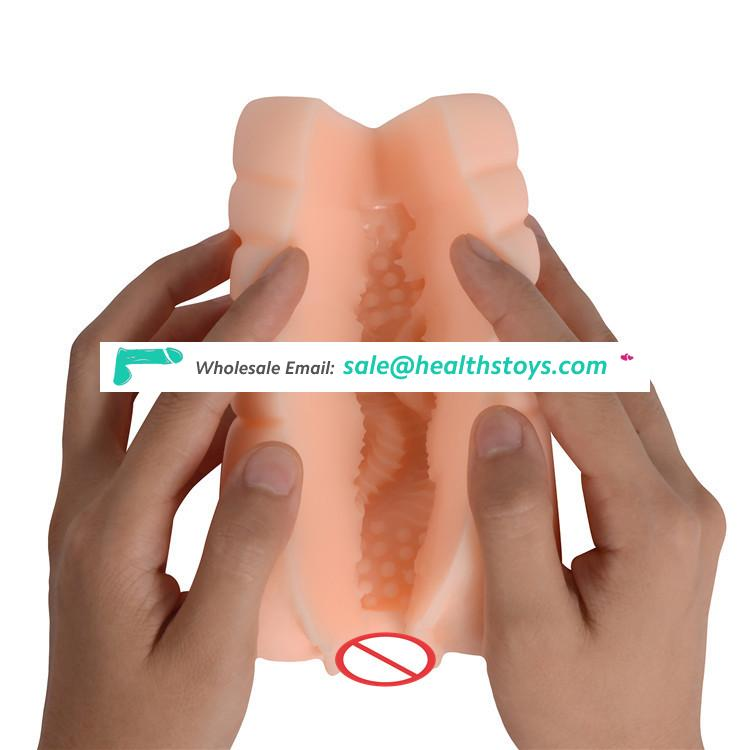 Homemade Fake Sex Pussy Shaped Artificial Silicone Rubber Vagina Male Sex Toys