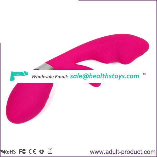 Hot Selling Silicone Rabbit Vibrator G Spot Stimulation IPX4 Waterproof Sex Toy for Women Clitoris Stimulation