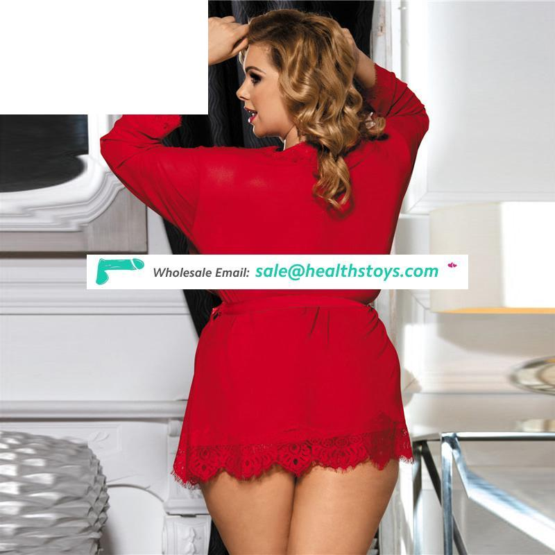 In stock plus size paypal accept hot sexy womens transparent lingerie