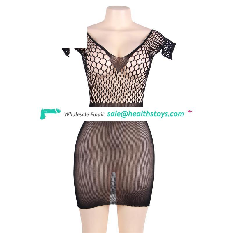 Plus size Wholesale two color charming sexy mesh body stockings