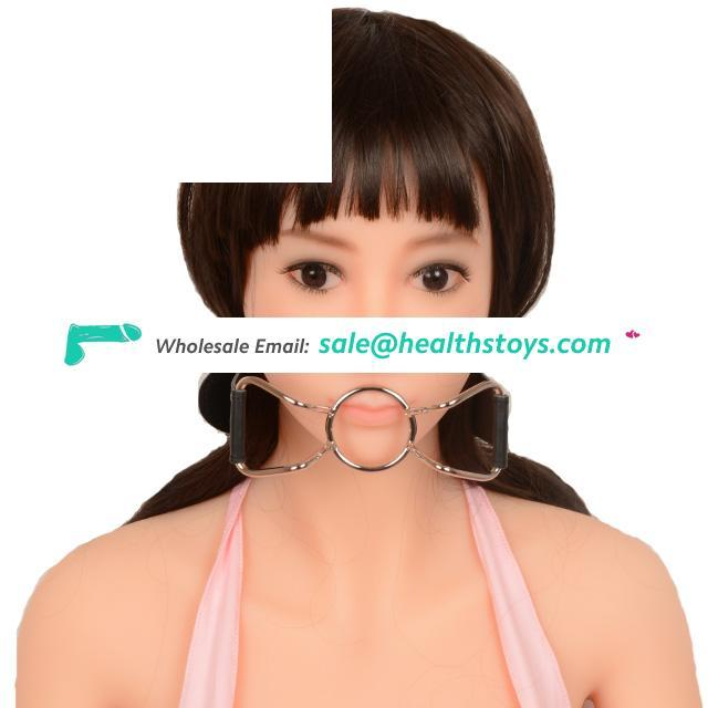 Stainless Steel Butterfly Shape Open Mouth Gag Male Bondage For Couple