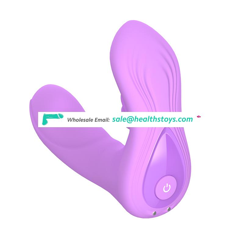 USB Rechargeable Penis With Swing Tongue Strapless Strap On Dildo For Women