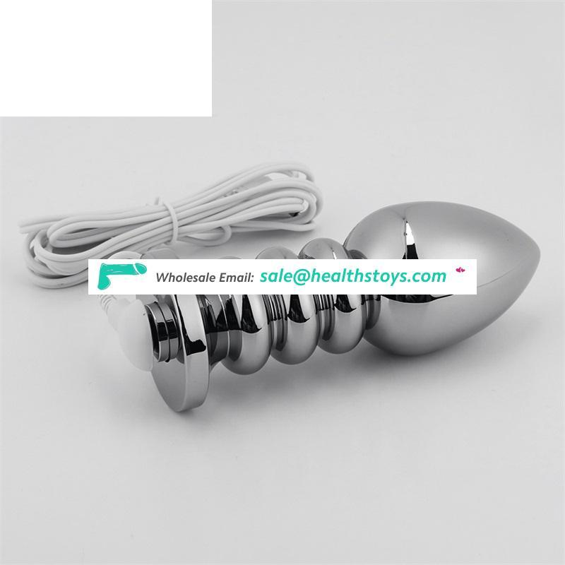 Wholesale Stainless Steel Metal Anal Plug with Metal Material Matched with Fox Tail Small Size Metal Butt Plug