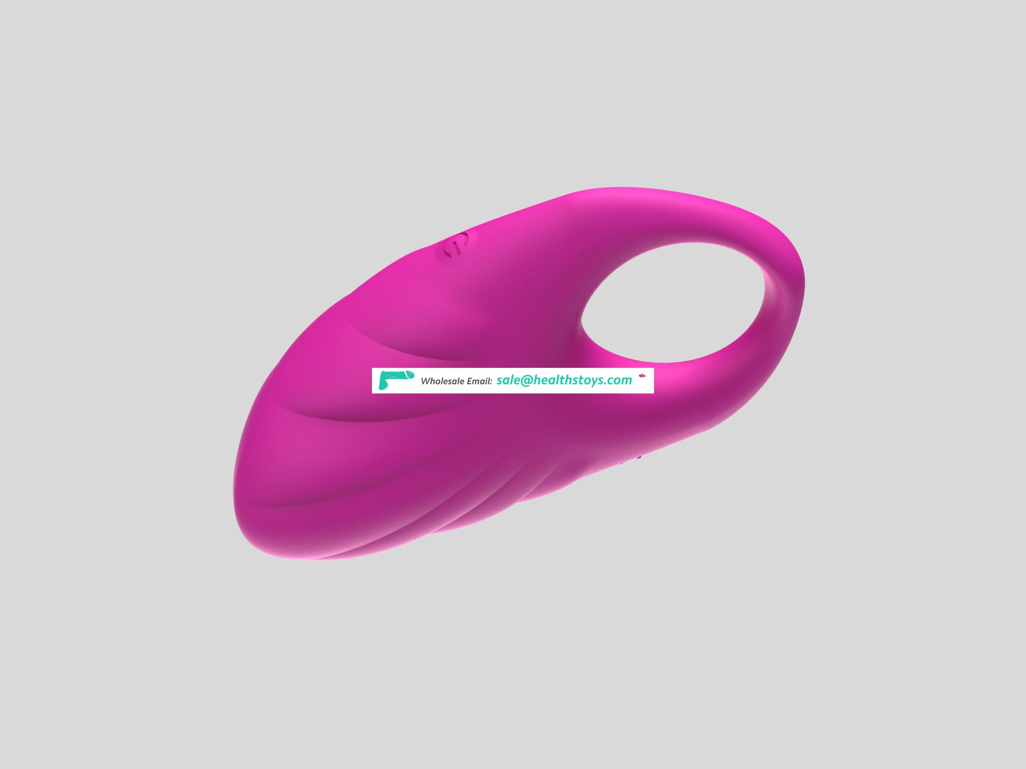 wholesale Male penis strong vibration ring Depth of Waterproof multifrequency new design Silicone penis ring with USB