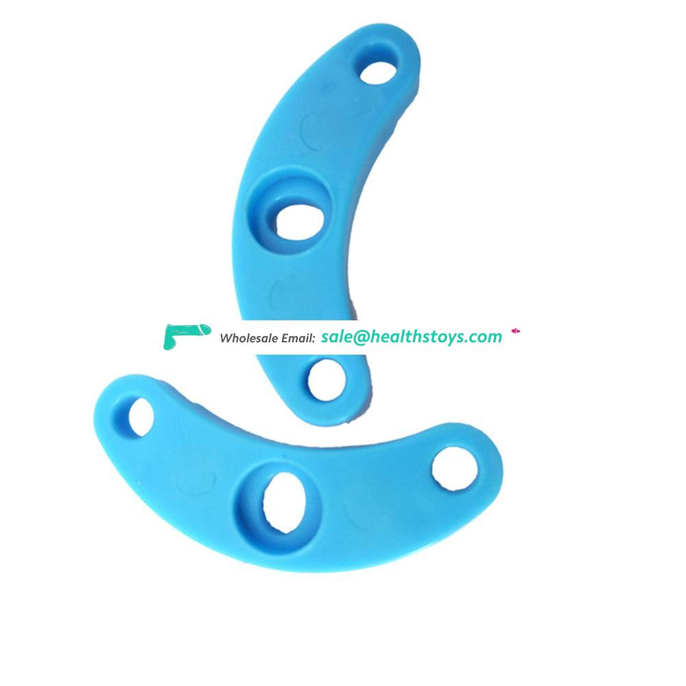 FAAK  10cm Blue Plastic penis cage for male soft healthy men chastity device keyholder male chastity cage sex shop