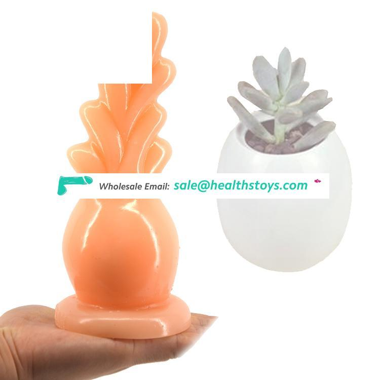 FAAK 18.5cm Juguetes sexuales unisex anal plug  thick  rubber penis ith strong suction cup for women g spot finger Masturbation