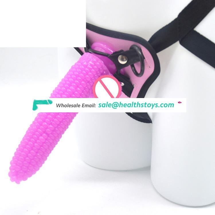 FAAK 19cm corn dildo anal with belt for male  strapon dildo pants penis with belt sex toy for lesbian