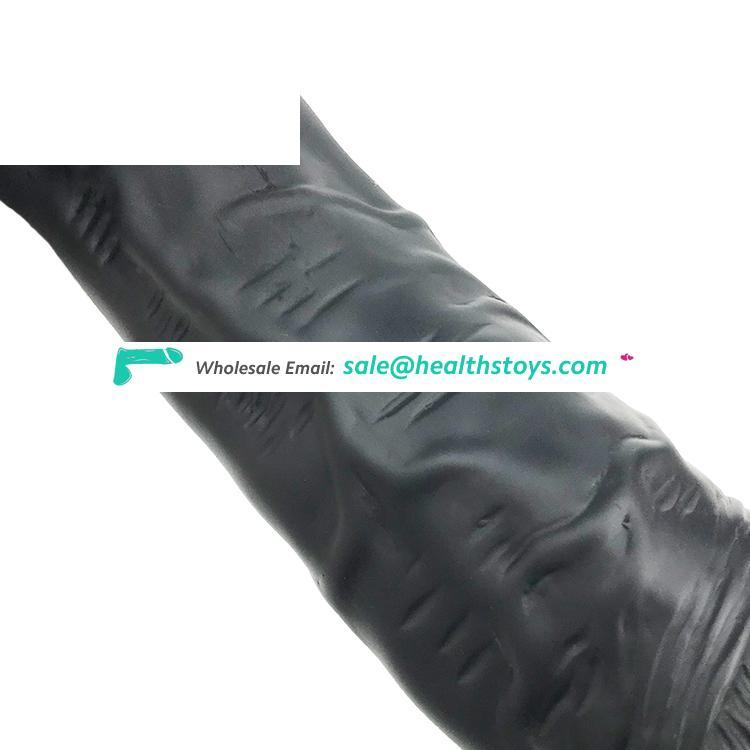 """FAAK 26cm 10"""" 5.5cm huge artificial penis anal plug butt toys realistic lifelike silicone black sex toys enlargement for lady"""