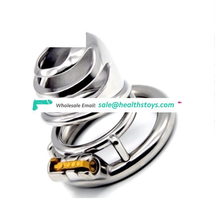 FAAK 5.4cm  304stainless steel man chastity  for male chastity device  lock penis cage metal chastity cage
