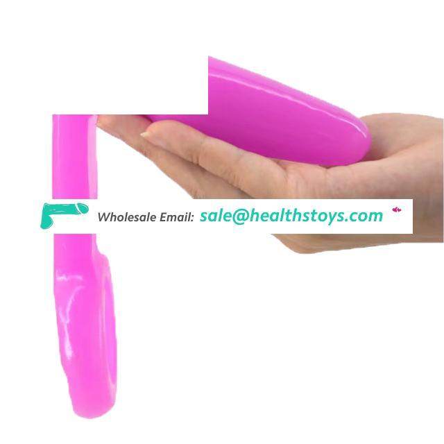 FAAK Realistic Anal Plug Adult Sex Toy with Bracelet and waterproof Soft Sex Products for Women and Man