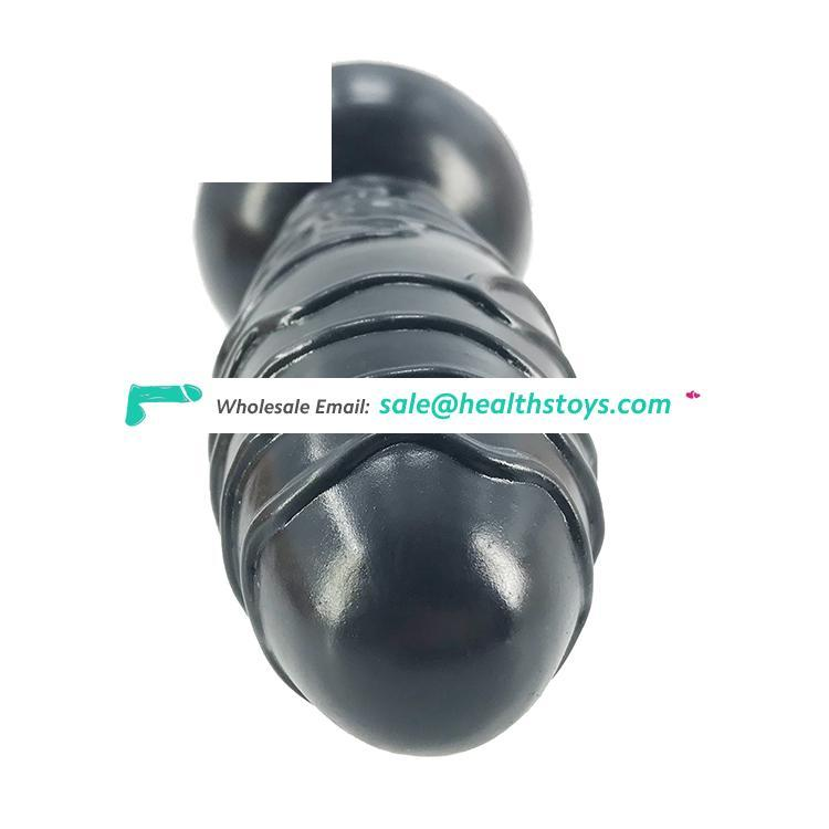 """FAAK insertable length 14cm 5.5"""" 5.6cm huge silicone dildo realistic anal toys flexible butt plug black adult sex toys for women"""