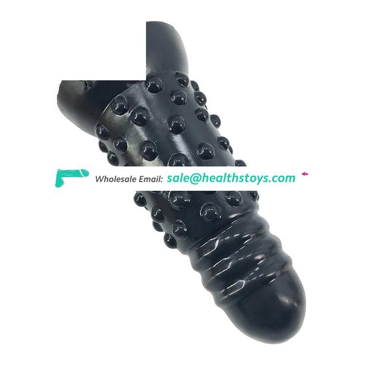 """FAAK insertable length 15.3cm 6"""" 6cm big anal toys low price butt plug waterproof dildo black toys sex adult silicone for men"""