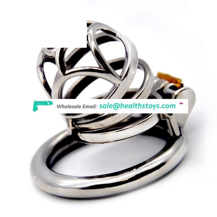 FRRK 304 Stainless Steel Chastity Device Male Bondage Cage 40/45/50mm Cock Lock Cage Chastity For Man Sex Toy  Adult
