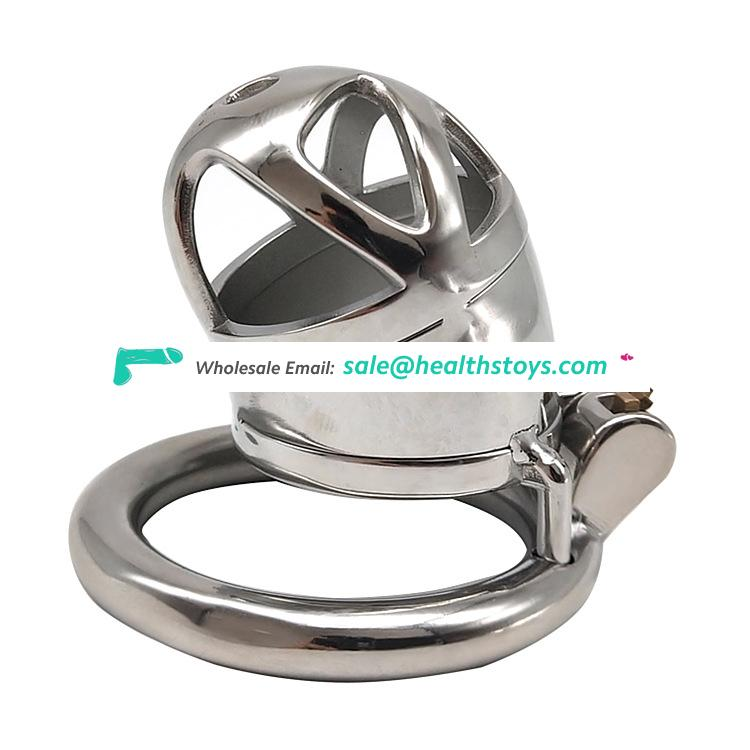 FRRK 6cm  SM Male chastity device chastity lock penis in cage with keyholder metal chastity cage for man