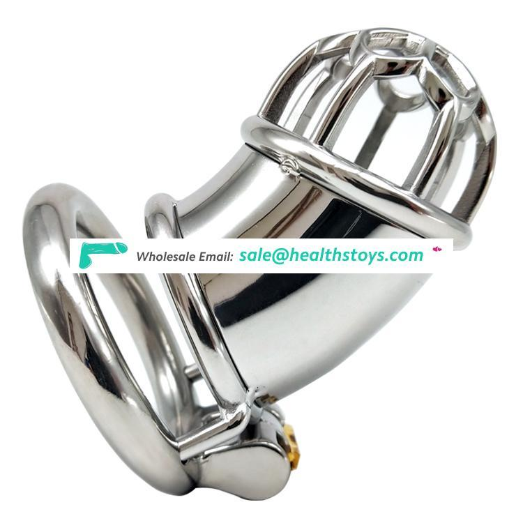 FRRK 7.3cm metal mens chastity device stainless steel chastity cock cage for male