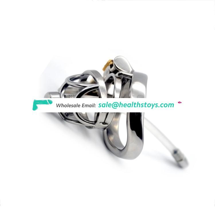 Stainless Steel Bird Cock Cage Lock Adult Game Metal Male Chastity Belt Device Penis Ring Sex Toys metal chastity device For Men