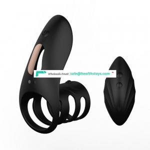 10 Vibration Modes Soft Rubber Best Selling Penis Delayed Ejaculation Cock Ring