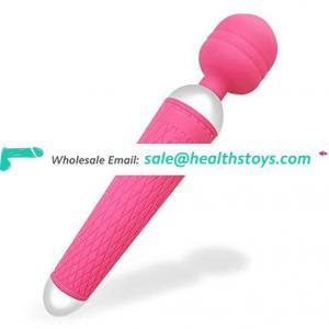 20.5X4.5 cm Dildo Vibrator Adult Sex Toy Rotating Head Mini Wand Massager for Men