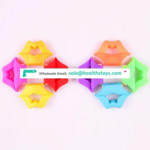 2017 Soft Rubber High Quality Lip Shaped Vibrator Cock Ring