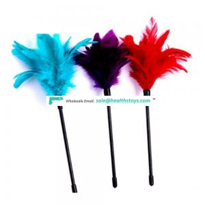 2018 Hot Sell Ostrich Feather Tickler Naughty Party Flirting Toy