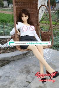 2018 Newest 135CM-176CM real soft big breast Japanese plush furry silicone sex doll for men