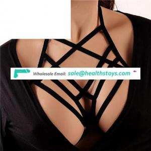 2018 Women Girl Hollow Out Elastic Cage Bandage Strappy Halter Bra Bustier Cropped Belt Harness Crop Tops