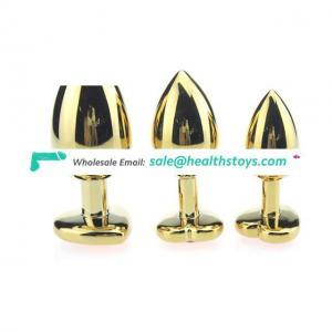 3PCS Anal Beads Crystal Jewelry Heart Butt Plug Stimulator Toys Stainless Steel Anal Plug