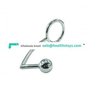 40mm,45mm,50mm for Choose Stainless Steel Butt Plug Ball Anal Hook With Penis Ring Toys For Men