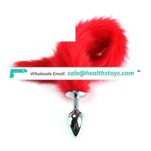 47CM Stainless Steel Anal Plug Insert Butt Toy Stopper Fox Tail Design For Couple