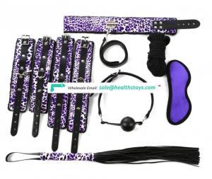7Pcs/Set Bondage Fetish Slave Handcuffs Foot Cuffs Restraints Full Body Belt Adjustable Device Erotic Toys for Couple