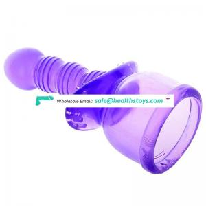 9.25 inch Whaterproof Medical Silicone soft realistic dildo with suction cup