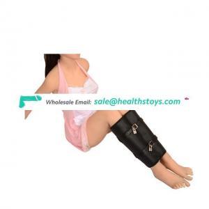 Adjustable Black PU Leather Leg Binder Lockable Bag For Couple