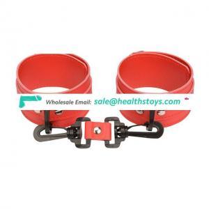 Adjustable Handcuffs Ankle Bracelets Adult PU Leather Bondage Fetish Handcuffs Restraints Kit For Couple