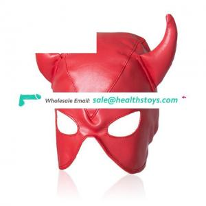 Adult Bedroom Bondage Hood Headgear Restraint Fetish Slave Eye Mask Adult Game Toys