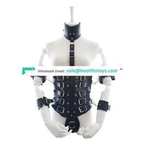 Adult Fantasy PU Leather Bondage Restraints Aid Couple Flirt Clothing