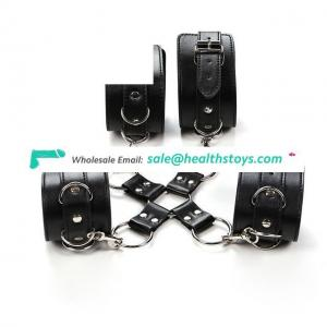 Adult Faux Leather Handcuffs Wrist Restraints Game Toys Slave Fetish Hand cuffs for Erotic Couples