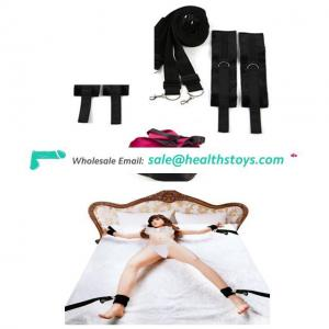 Adult Fun Sex Bed Restraint Kit With Adjustable Cuffs And Blindfold For Ankle And Hand