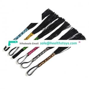 Adult Toy PU Leather Whips Handle Slave Whips for Couples