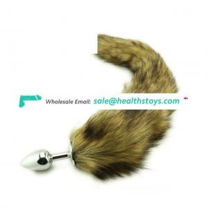 Anal Plug Fox Tail Stainless Steel Cat Tail Anal Plug Cosplay Toys