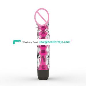 Artificial Rubber Penis Sex Toy Realistic Crystal Dildo Vibrator