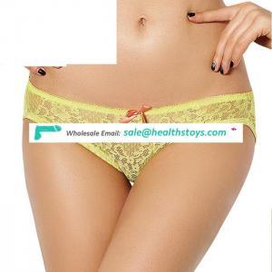Backless in stock stock lace ladies underwear panties
