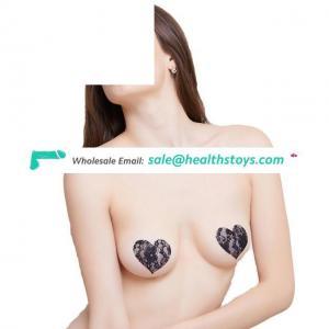 Beautiful Lace Breast Sticker Nipple Covers Dress Pasties Heart Shape For Women