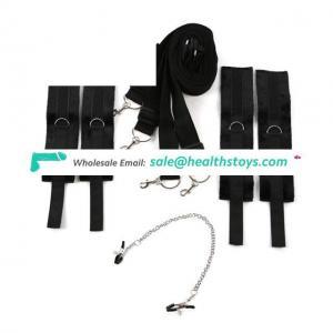 Black Bedroom Restraint Kit System,Under Bed Restraints For Beginners Couples Game, Bed Restraints Adult Products