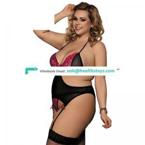 Black Lace New Design Transparent 34 Size Bra Bra and Panty Set