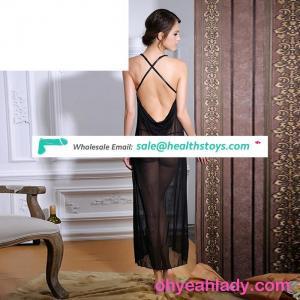 Black Lace nighty dress sexy cupless sxi girls babydoll lingerie