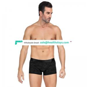 Black breathable cotton mens underwear boxer briefs